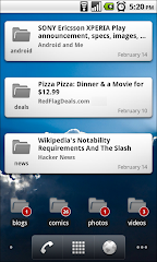 Google Reader App Widget