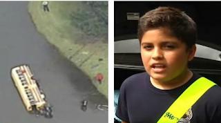 Σχολικό λεωφορείο έπεσε σε λίμνη με κροκόδειλους αλλά ένας 10χρονος έσωσε τη ζωή των συμμαθητών του