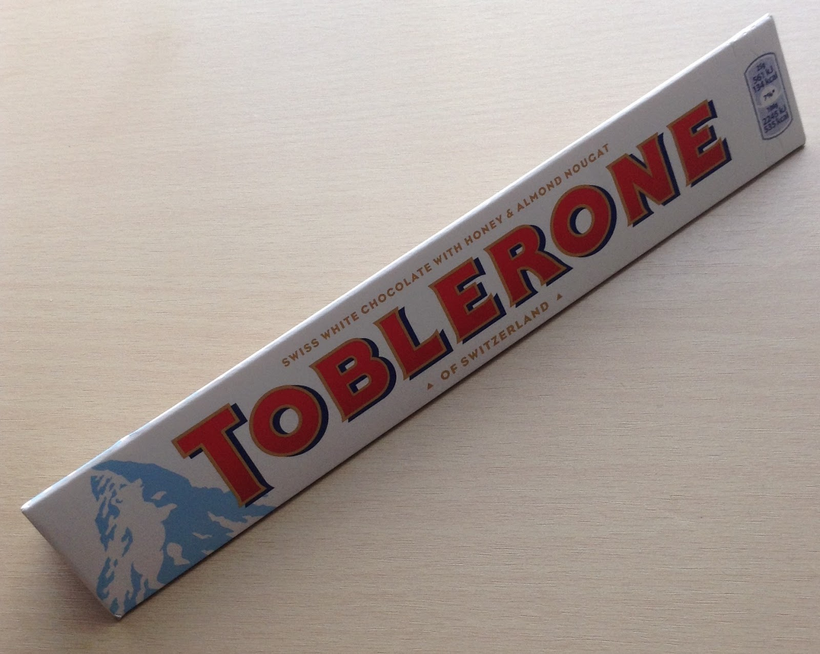 Toblerone White Chocolate Bar Review