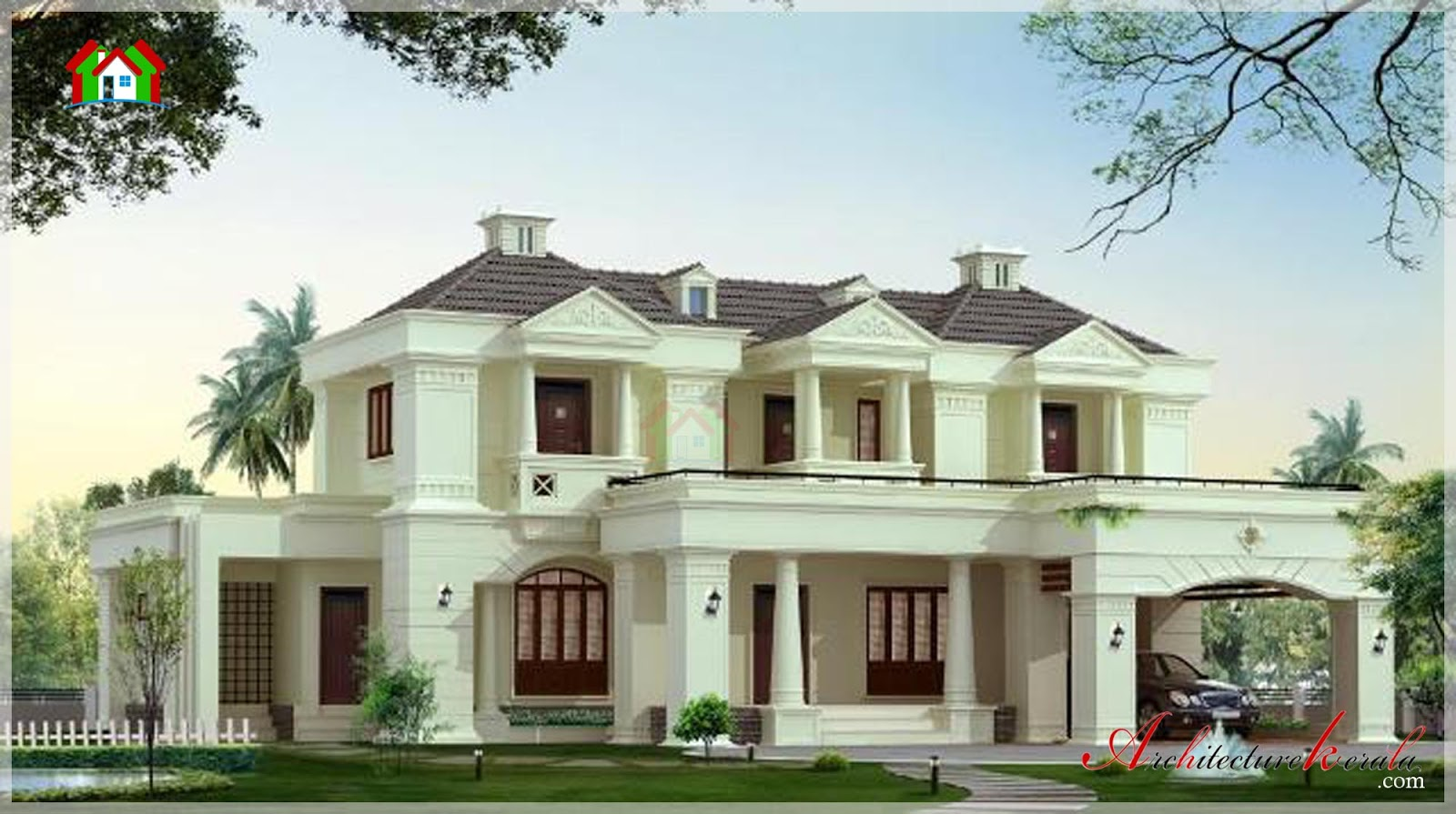 3500 Square Feet Contemporary Style Elevation Architecture Kerala