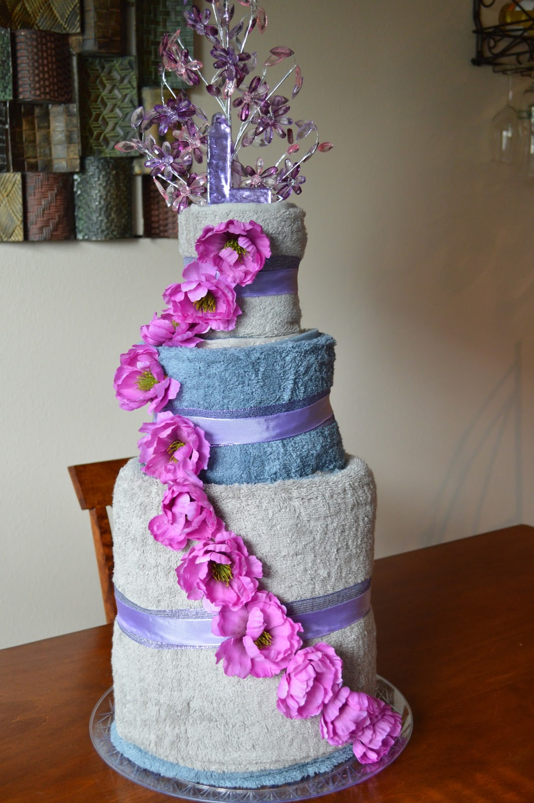 Too Many Crafts Too Little Time Bridal Shower Gifts Towel Cake