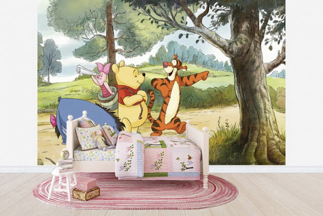 Winnie the Pooh Wall Mural Kids Room Wallpaper