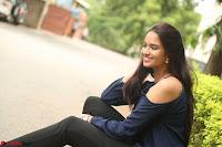 Poojita Super Cute Smile in Blue Top black Trousers at Darsakudu press meet ~ Celebrities Galleries 072.JPG