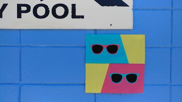 Fun in the Sun retro sunglasses quilt block