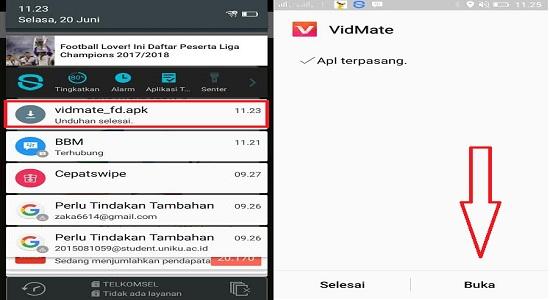 Install app Vidmate