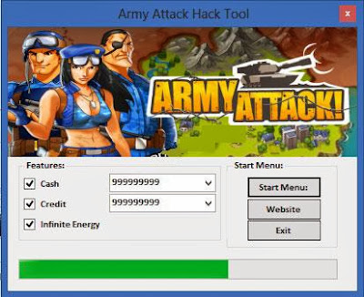 Download Free Army Attack Hack (All Versions) Unlimited Cash,Credit,Infinite Energy 100% working and Tested for IOS and Android.