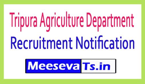 Tripura Agriculture Department Recruitment