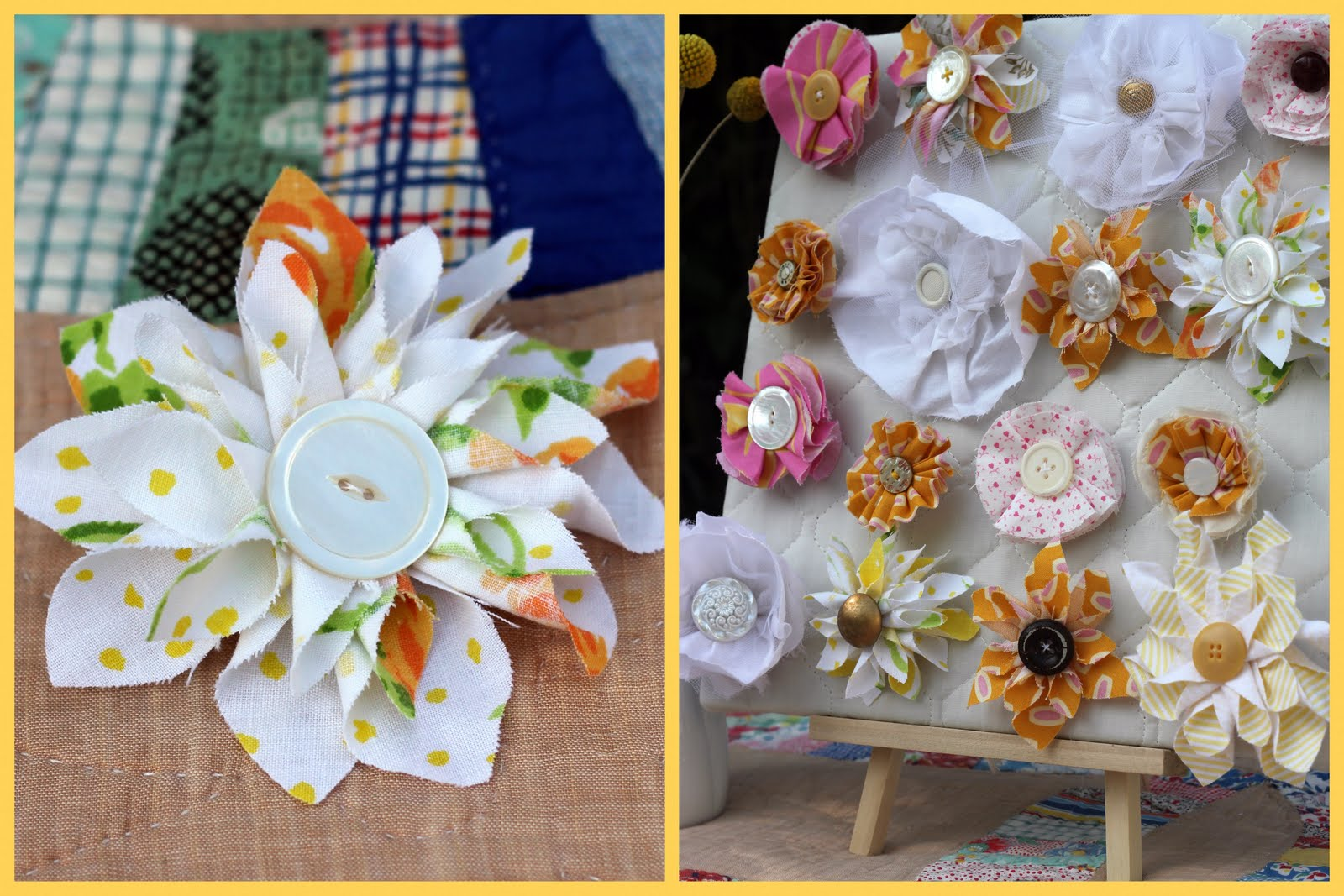 Fabric flower hair clip   Fabric Hair Flowers Tutorial