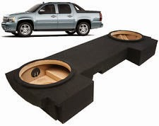 "CHEVY AVALANCHE 2002-2013 CUSTOM FIT DUAL 12"" BOX STEREO SUBWOOFER ENCLOSURE"