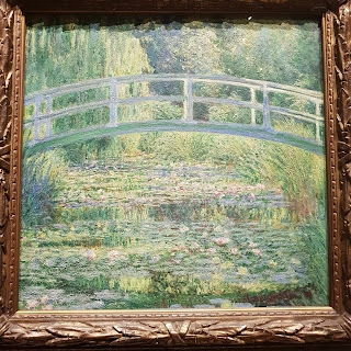 Close up of Monet Water Lily Pond