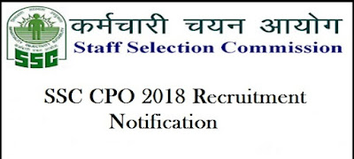 SSC CPO SI 2018 Online Form