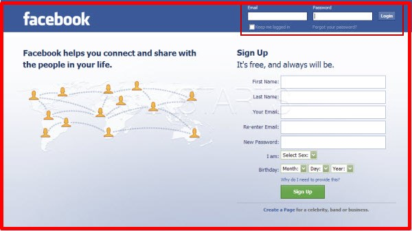 facebook login.com sign in