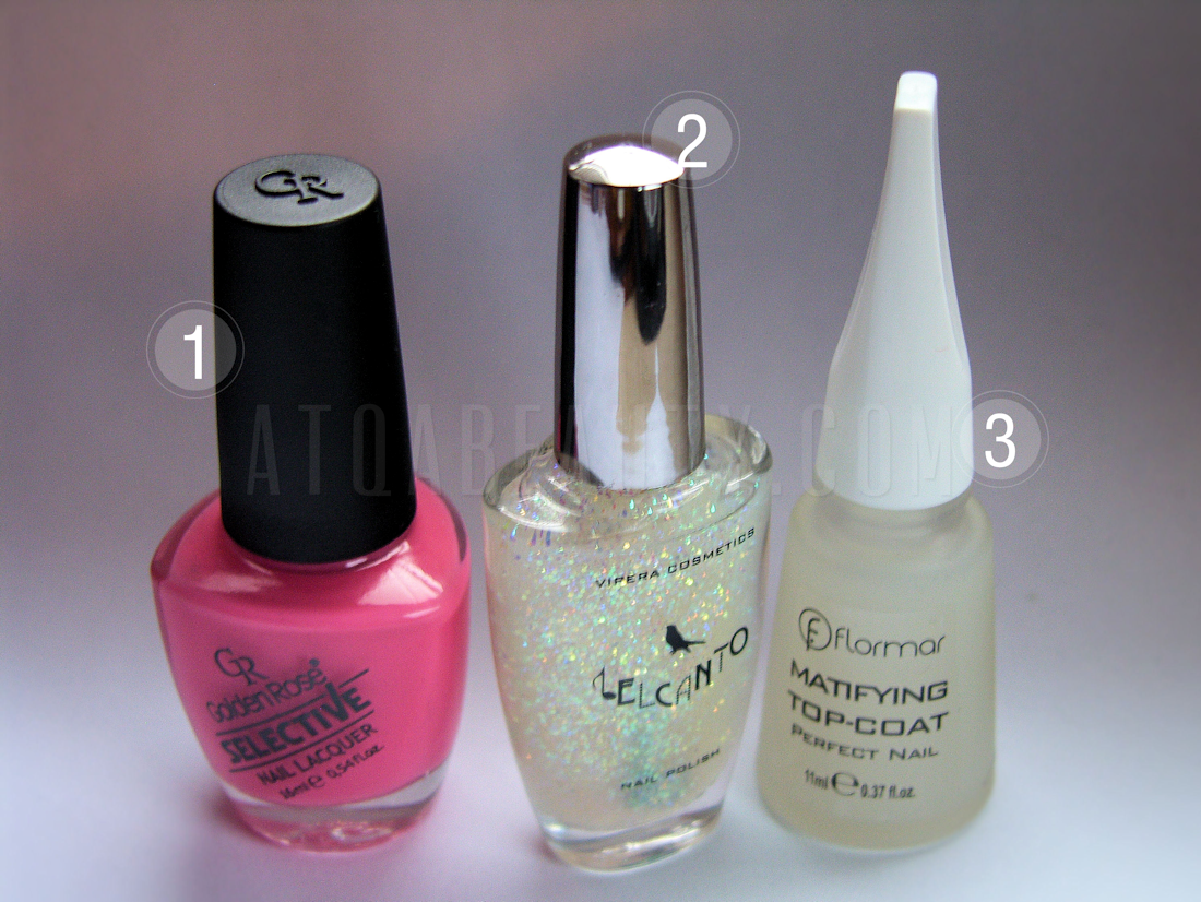 Golden Rose, Selective, Berry Mousse + Vipera, Belcanto, 127 + Flormar, Matifying Top-Coat