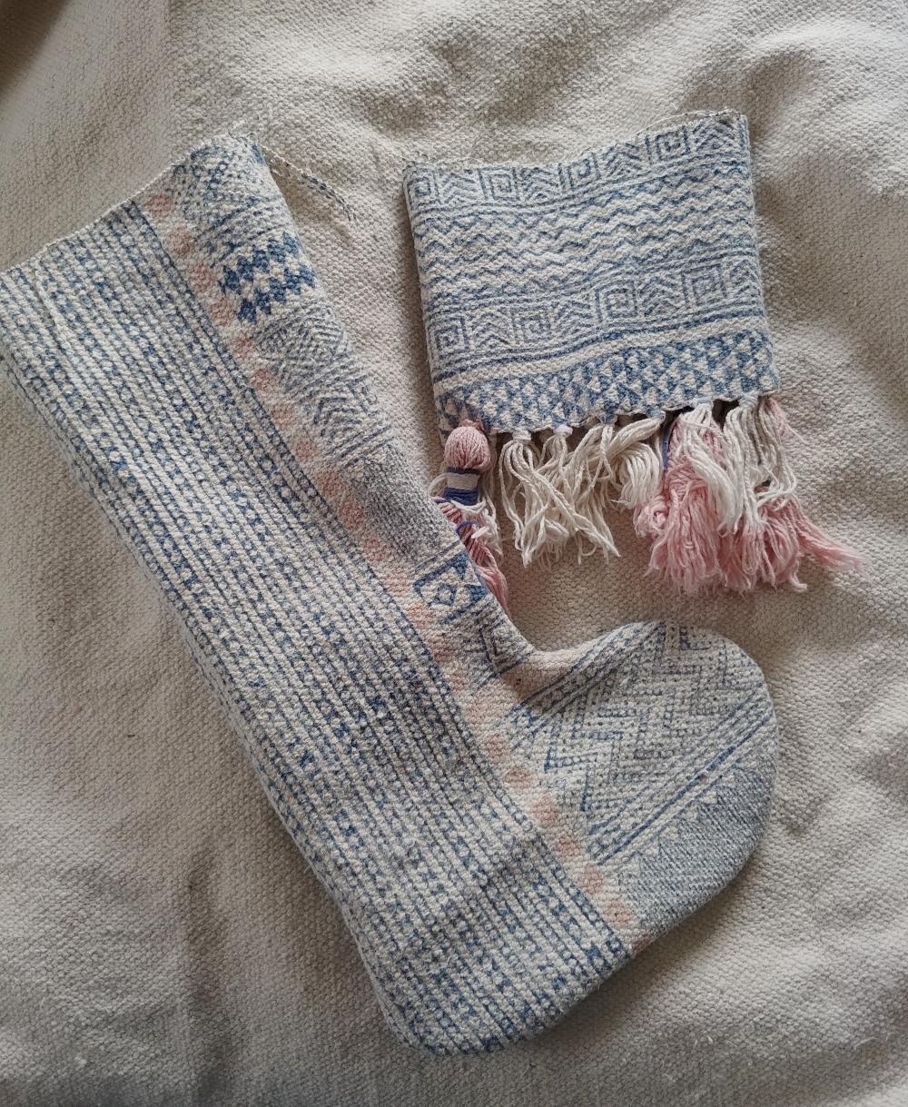 sew stocking parts