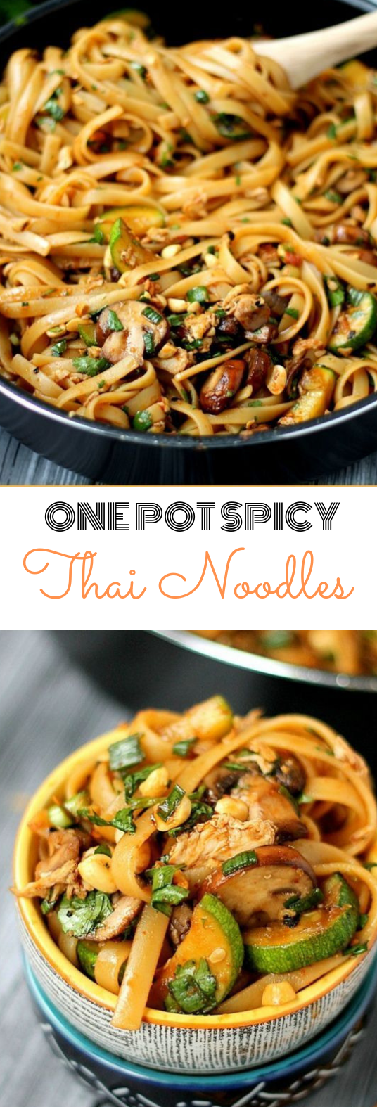 One Pot Spicy Thai Noodles #delicious #noodles