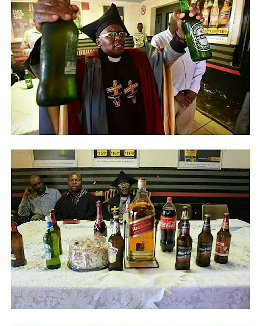 Wonders! South African church where members are baptized using their favorite beer