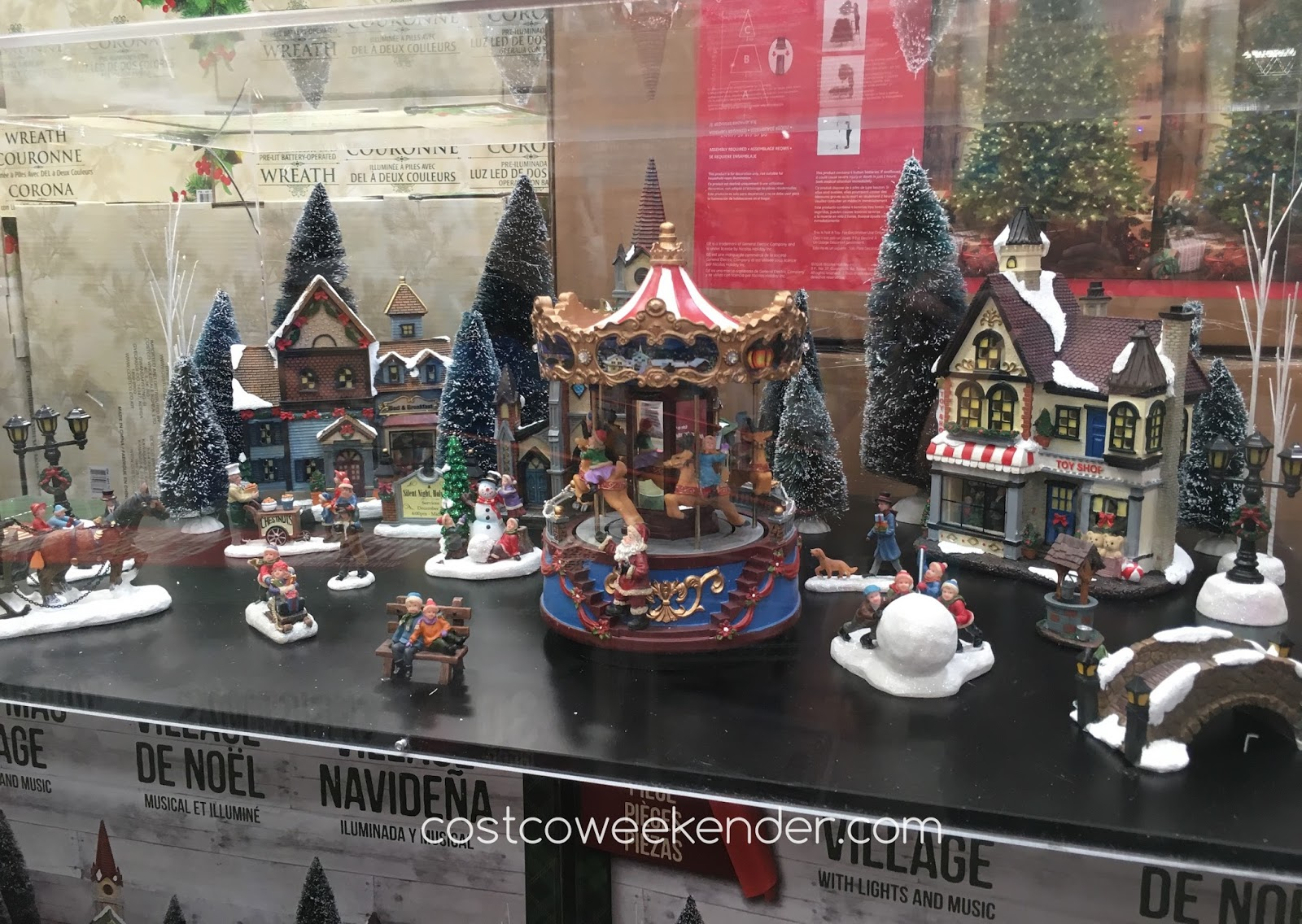 costco 998983 christmas village with lights and music great for the holidays