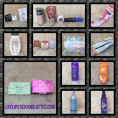 skincare, cosmetics, shampoo, hair care, styling products, makeup, samples, scentsy, wipes