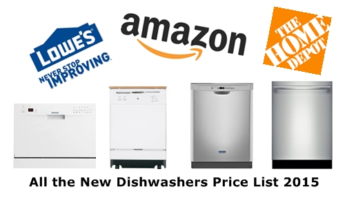 the new dishwashers price list 2015