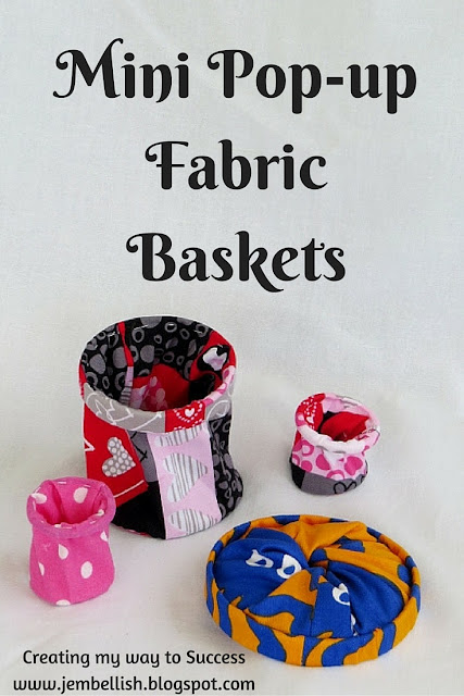 Mini Pop Up Fabric Baskets