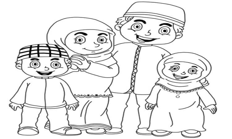 Gambar Mewarnai Ayah Ibu Dan Anak Gambar Mewarnai Gratis