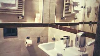 Nasza łazienka w Apart Hotel Giżycko