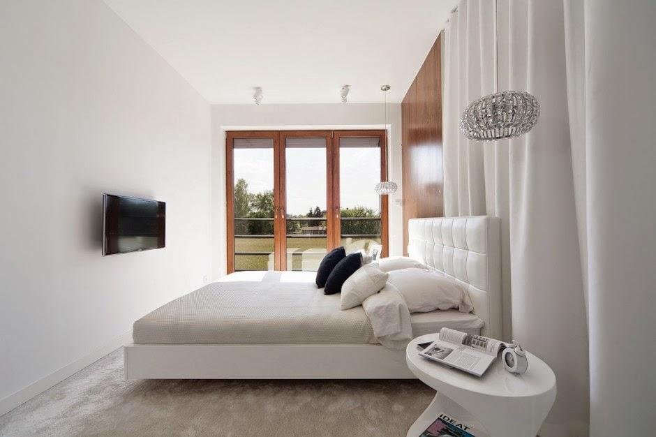 Casa d58 decoraci n interior minimalista polonia for Decoracion de interiores apartamentos tipo estudio