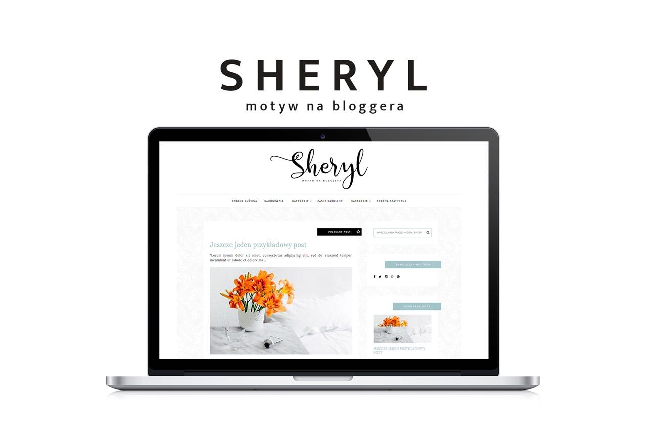 szablon na blogspot - motyw na bloggera - Sheryl