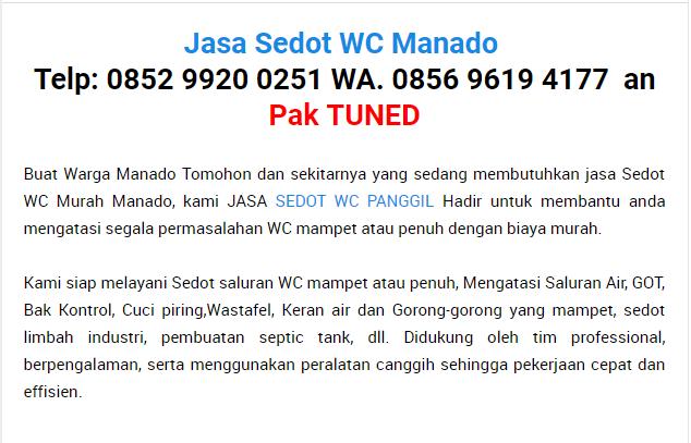 Sedot Wc di Manado
