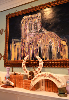 St. Philip's Cathedral painting, Richard McKey, Cathedral Antiques Show, Summer Loftin