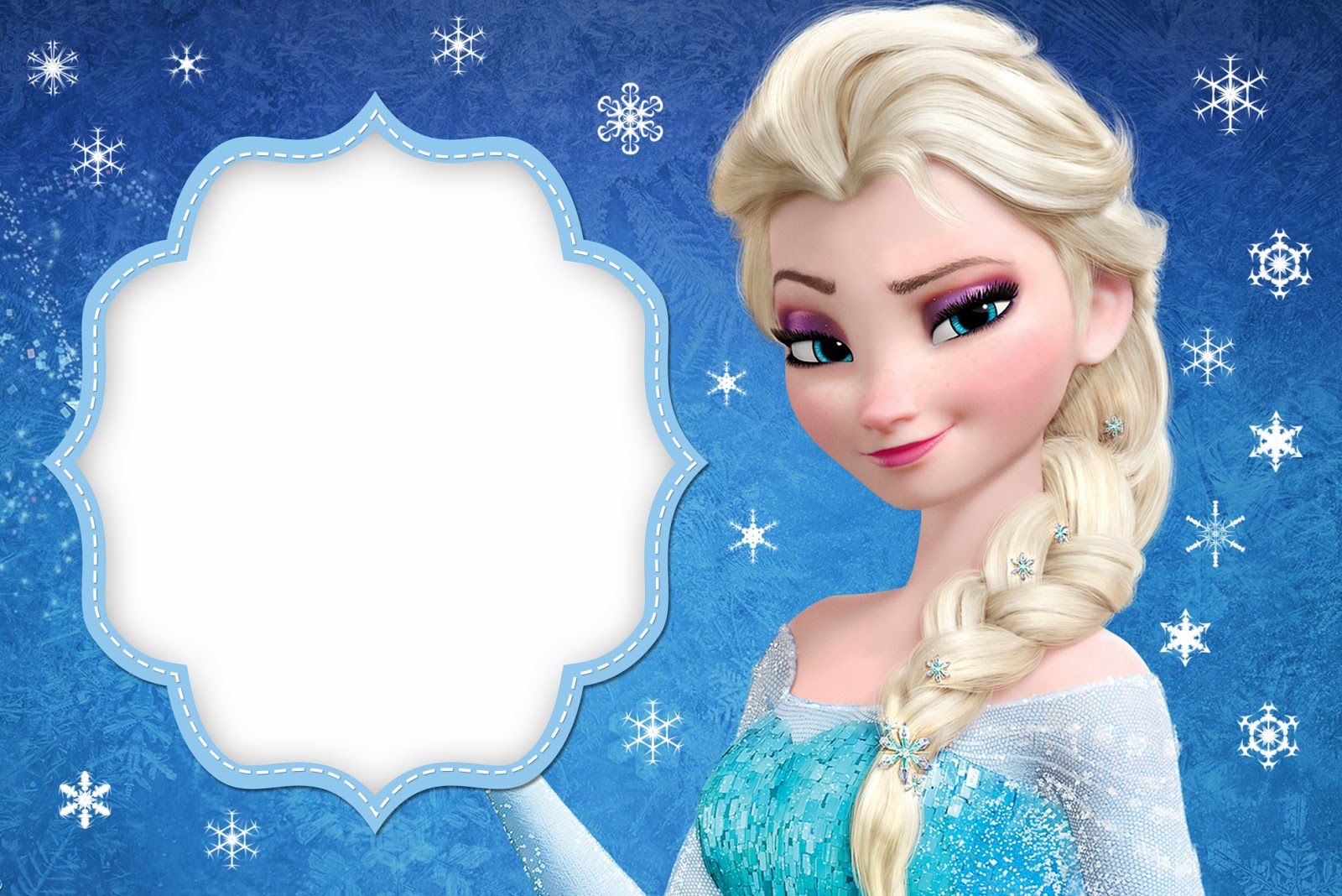 Gorgeous image throughout frozen birthday card printable
