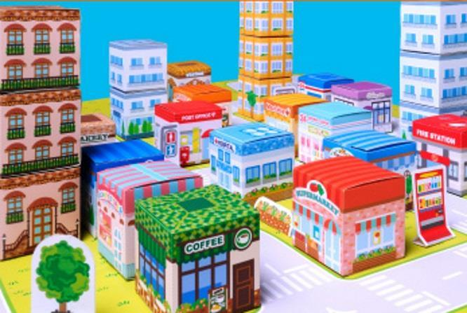 Papermau An Easy To Build Mini City Papercraft For Kids By Canon Asia