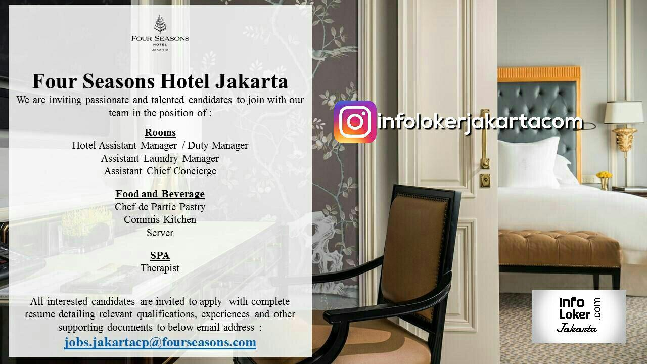 Lowongan Kerja Four Season Hotel Jakarta September 2017