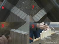 Cortar y retirar la madera de los huecos. http://www.enredandonogaraxe.com