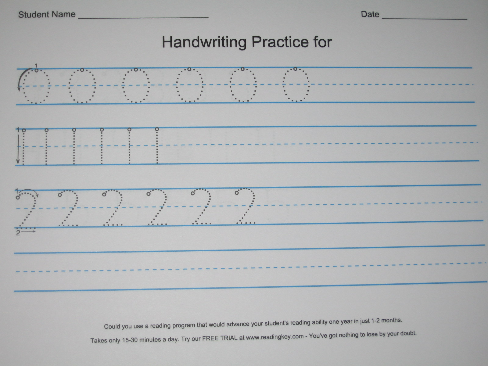 Cookie Nut Creations Make Your Own Handwriting Practice Sheets
