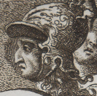 Close up of Aeneas clean shaven with Willian III's hook nose