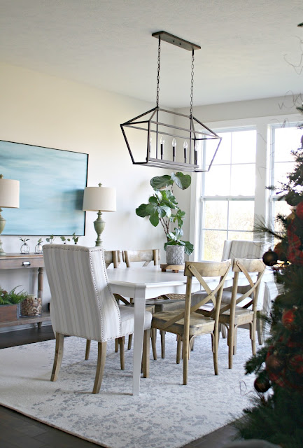 bright and light dining area in great room