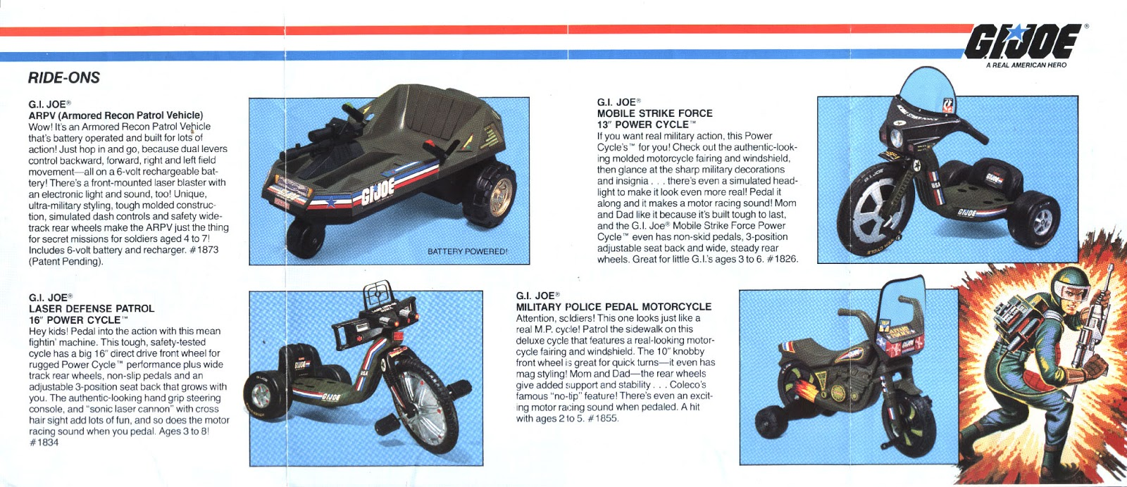 10 Best Themed Coleco Power Cycles Of The '80s - Rediscover the '80s