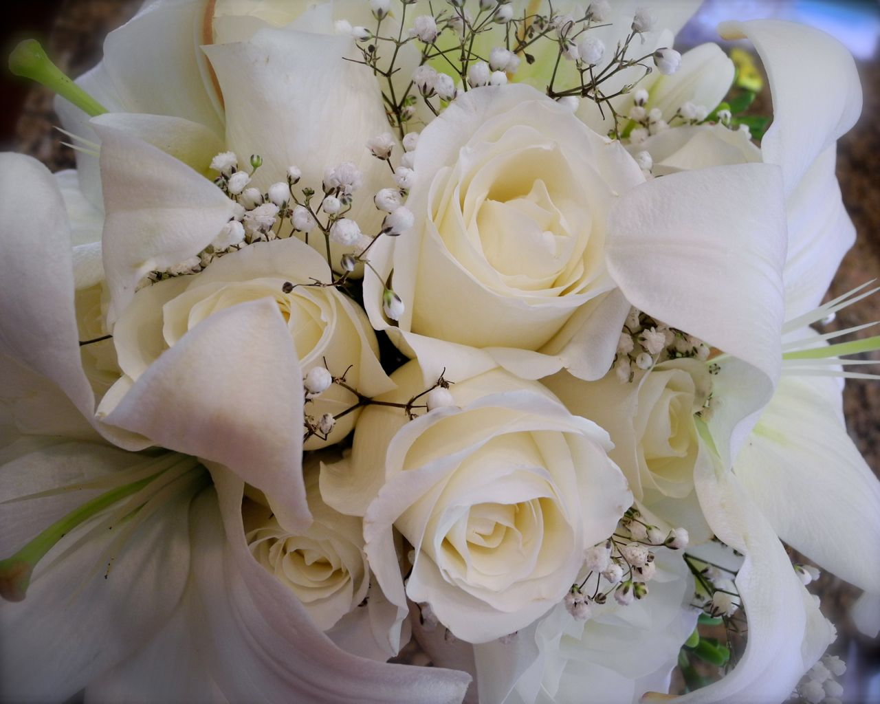 roses bouquet for wedding the flower white bridal bouquet 7133