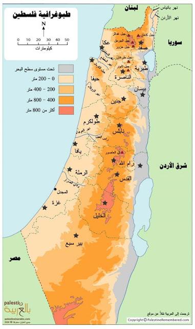 خريطة فلسطين Palestine Map
