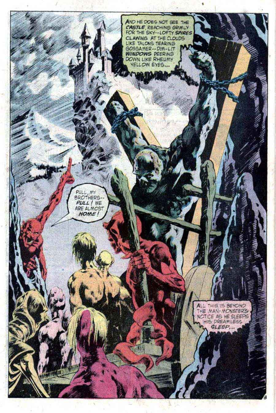 Swamp Thing v1 #2 1970s bronze age dc comic book page art by Bernie Wrightson
