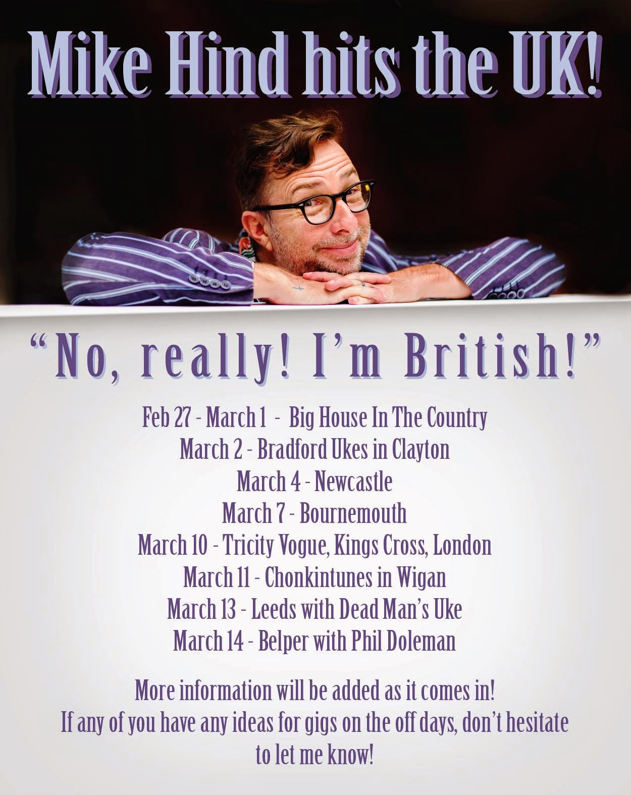 Mike Hind UK Tour dates