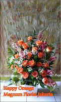 Simple Beautiful Orange Mawar Rangkaian Jakarta Online