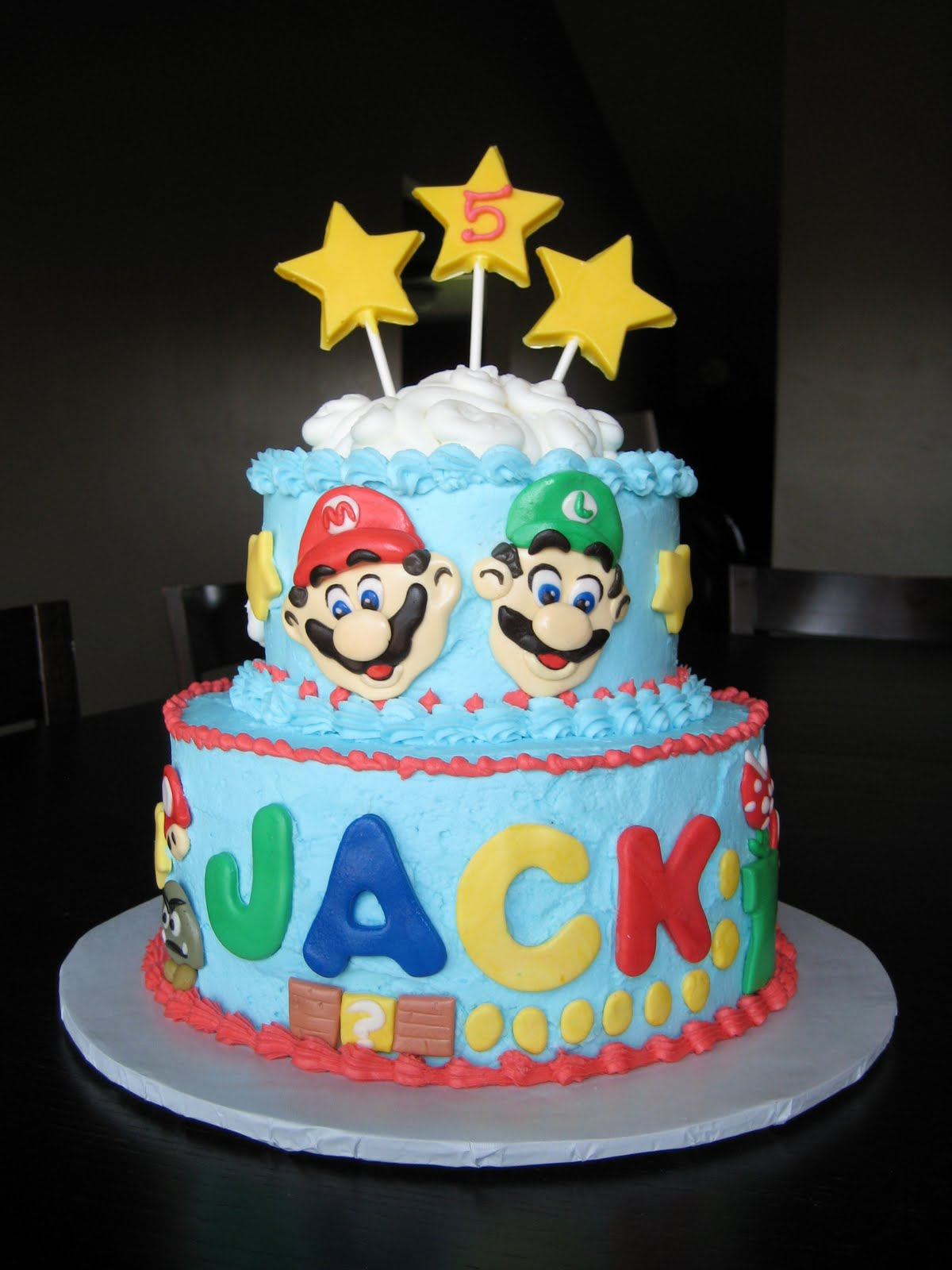 Mario Brothers Cake Topper Edible