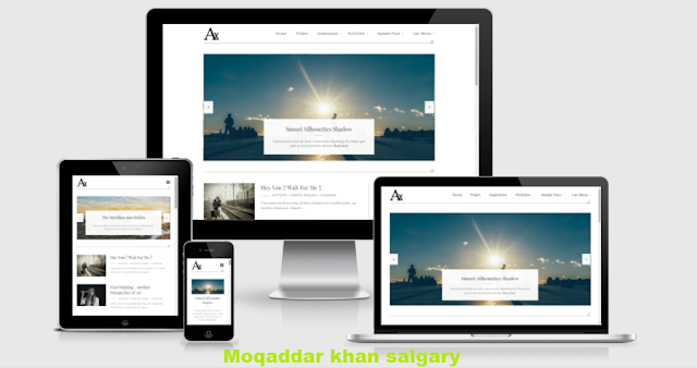 AXorys Responsive Blogger Template (Free Version)