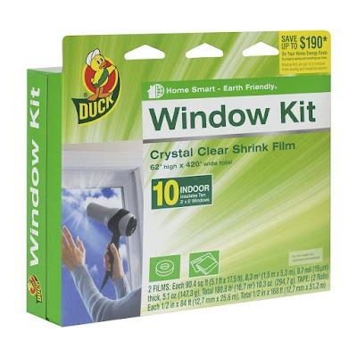duck brand window kit, insulation, winter