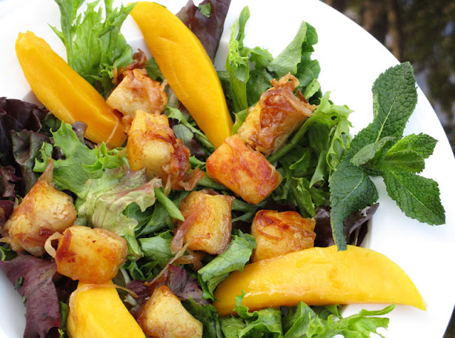 Tamarind Paneer and Mango Salad
