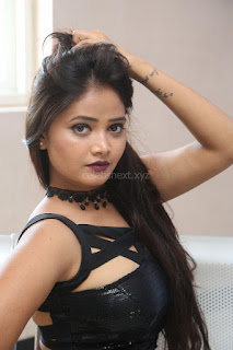 Shriya Vyas in a Tight Backless Sleeveless Crop top and Skirt 18.JPG