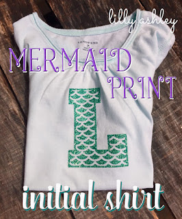 mermaid print letter svg set