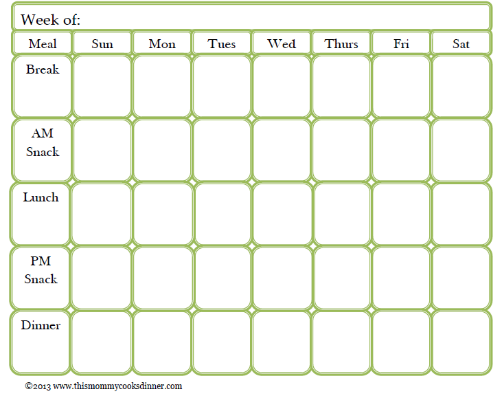 Free Meal Planning Template! | This Mommy Cooks Dinner